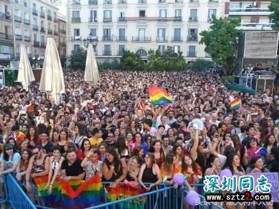 同性恋骄傲游行成功占领马德里市中心